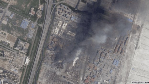 Tianjin blast before after photos