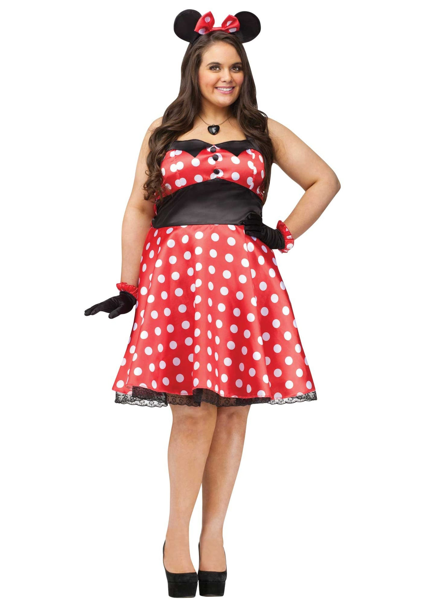 10 plus size retro minnie mouse halloween costume