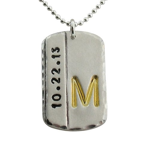 Mens initial dog tags