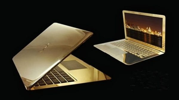 Mac Book Pro 24 Karat Gold - Most expensive laptops 2016