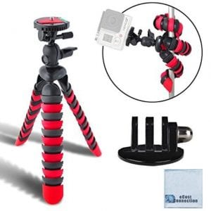 eCost Flexible Tripod And Tripod Mount Adapter For GoPro Cameras
